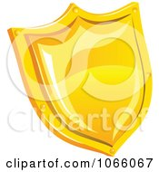 Clipart 3d Yellow Shield Royalty Free Vector Illustration
