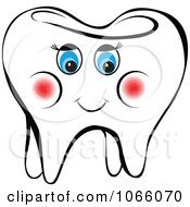 Clipart Happy Female Tooth 2 Royalty Free Vector Illustration