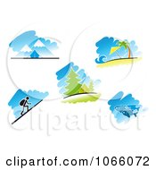 Clipart Travel And Recreation Scenes Royalty Free Vector Illustration