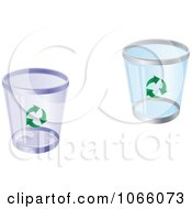 Clipart Recycle Bins Royalty Free Vector Illustration