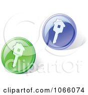 Clipart 3d House Key Icons Royalty Free Vector Illustration by Vector Tradition SM