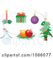 Clipart Christmas Icons 9 Royalty Free Vector Illustration
