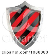 Clipart 3d Red And Black Shield Royalty Free Vector Illustration