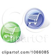 Clipart 3d Shopping Cart Icons Royalty Free Vector Illustration
