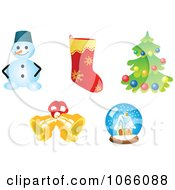 Clipart Christmas Icons 8 Royalty Free Vector Illustration
