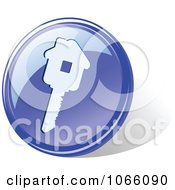 Clipart 3d Blue House Key Icon Royalty Free Vector Illustration by Vector Tradition SM