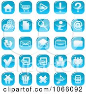 Clipart Shiny Blue Web Browser Icons Royalty Free Vector Illustration