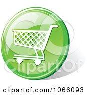3d Green Shopping Cart Icon