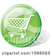 Clipart 3d Green Shopping Cart Icon Royalty Free Vector Illustration
