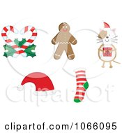 Clipart Christmas Icons 3 Royalty Free Vector Illustration