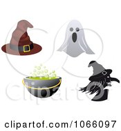 Clipart Halloween Icons 3 Royalty Free Vector Illustration by Vector Tradition SM