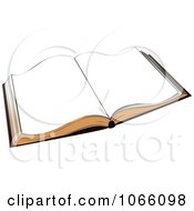 Clipart Blank Paged Book Royalty Free Vector Illustration