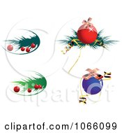 Clipart Christmas Icons 6 Royalty Free Vector Illustration