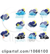 Clipart Night Weather Icons Royalty Free Vector Illustration by Vector Tradition SM