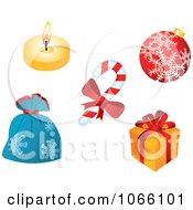 Clipart Christmas Icons 2 Royalty Free Vector Illustration