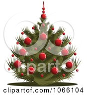 Clipart Short Christmas Tree Royalty Free Vector Illustration