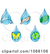 Clipart Animal And Nature Waterdrops Royalty Free Vector Illustration by Vector Tradition SM
