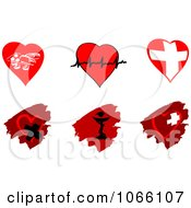 Clipart Cardiology Heart And Pharmaceutical Icons Royalty Free Vector Illustration