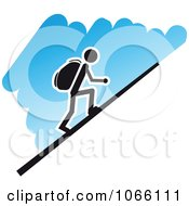 Clipart Hiker Royalty Free Vector Illustration by Vector Tradition SM