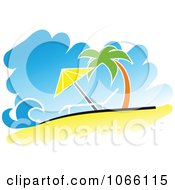Clipart Relaxing Tropical Beach Royalty Free Vector Illustration