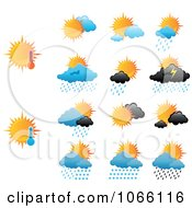 Clipart Day Weather Icons Royalty Free Vector Illustration by Vector Tradition SM