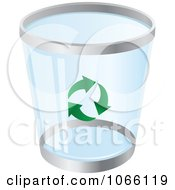 Clipart Blue Recycle Bin Royalty Free Vector Illustration