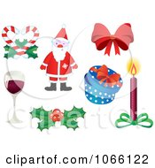Clipart Christmas Icons 1 Royalty Free Vector Illustration