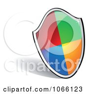 Clipart 3d Colorful Shield Royalty Free Vector Illustration