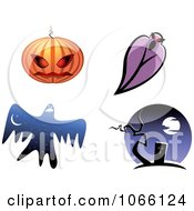 Clipart Halloween Icons 2 Royalty Free Vector Illustration