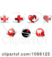 Clipart Heart Medical And Dental Icons Royalty Free Vector Illustration by Vector Tradition SM