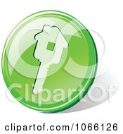 Clipart 3d Green House Key Icon Royalty Free Vector Illustration by Vector Tradition SM