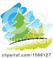 Clipart Camp Site Royalty Free Vector Illustration
