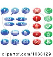 Clipart Blue Red And Green Web Browser Icons Royalty Free Vector Illustration by Vector Tradition SM