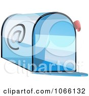 Clipart 3d Blue Email Box Royalty Free Vector Illustration by Vector Tradition SM