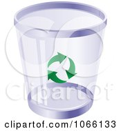 Clipart Purple Recycle Bin Royalty Free Vector Illustration