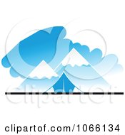 Clipart Snowy Mountains And Tent Royalty Free Vector Illustration by Seamartini Graphics