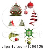 Clipart Christmas Icons 5 Royalty Free Vector Illustration