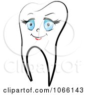 Clipart Happy Female Tooth 1 Royalty Free Vector Illustration