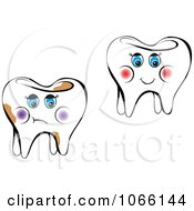 Clipart Female Teeth Royalty Free Vector Illustration
