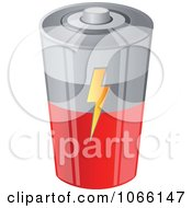 Clipart 3d Battery Royalty Free Vector Illustration