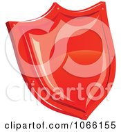 Clipart 3d Red Shield Royalty Free Vector Illustration