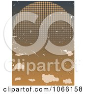 Clipart Grungy Halftone Sunset Royalty Free Vector Illustration by mheld