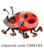 Clipart Happy Ladybug Royalty Free Illustration by Alex Bannykh