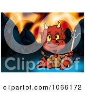 Clipart Devil Sitting In Hell Royalty Free Illustration