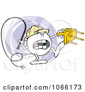 Clipart Angry Moodie Lion Tamer Royalty Free Vector Illustration