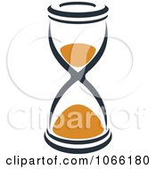 Clipart Orange And Black Hourglass 6 Royalty Free Vector Illustration