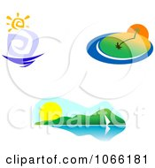 Clipart Summer Landscapes Royalty Free Vector Illustration