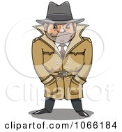 Clipart Investigator With His Hands In His Pockets Royalty Free Vector Illustration
