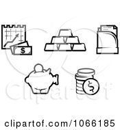 Clipart Black And White Finance Icons 1 Royalty Free Vector Illustration by Vector Tradition SM
