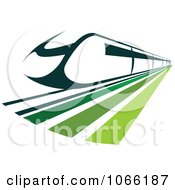 Clipart Green Train Royalty Free Vector Illustration